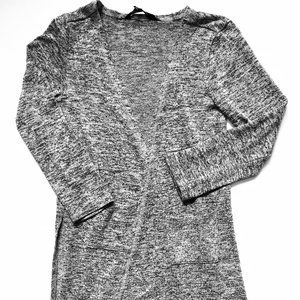 Marbled Grey Light Cotton Open Cardigan